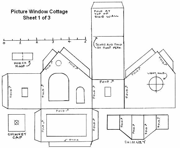 Casette di carta da stampare ideali per presepe e for Costruire un cottage a casa
