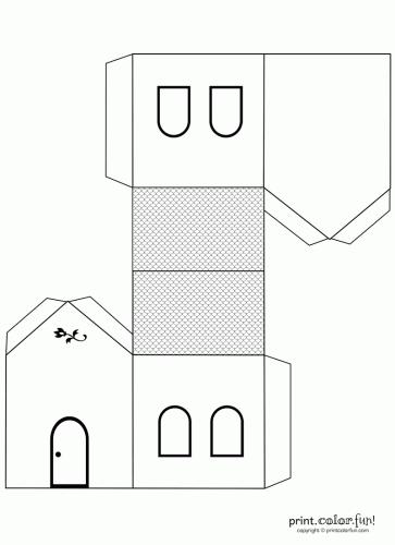 Casette di carta da stampare ideali per presepe e for Modelli di case da costruire