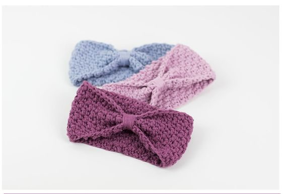 fascia per capelli di lana a uncinetto facile