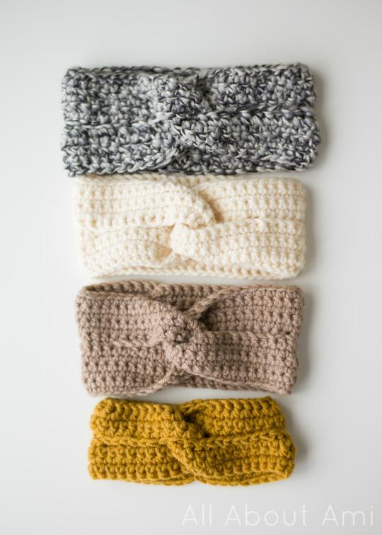 fascia per capelli di lana uncinetto intrecciata