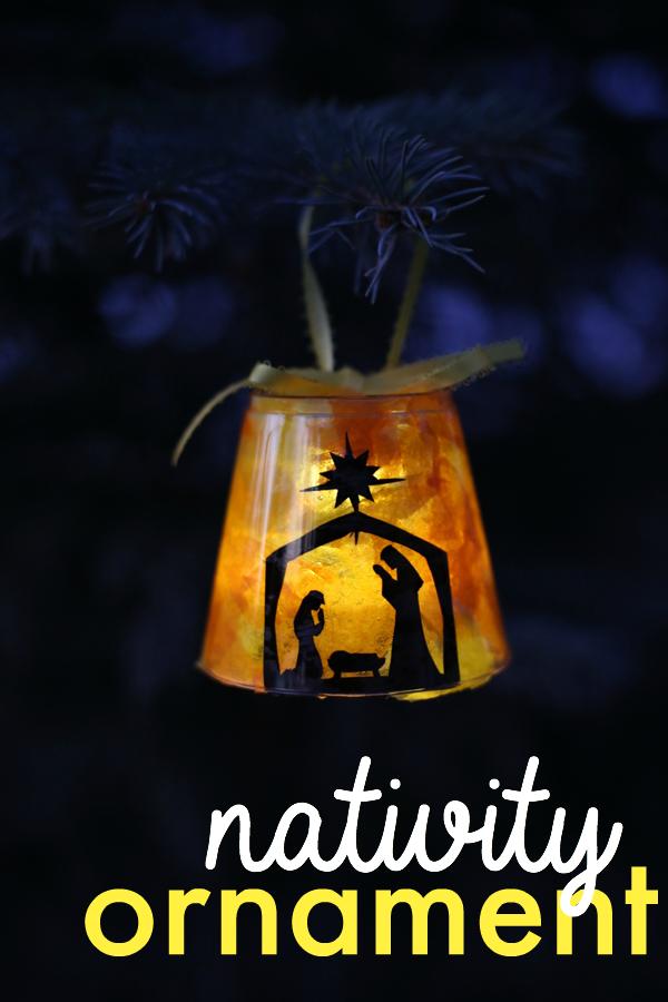 lavoretti di Natale per scuola primaria e oratorio: natività luminosa