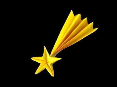 stella cometa fai da te 3D con origami