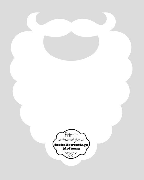 cartamodello di barba di babbo Natale