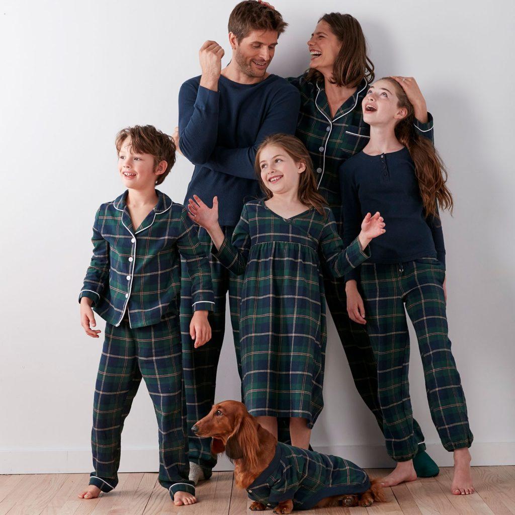 pigiami di Natale tutta la famiglia in tartan
