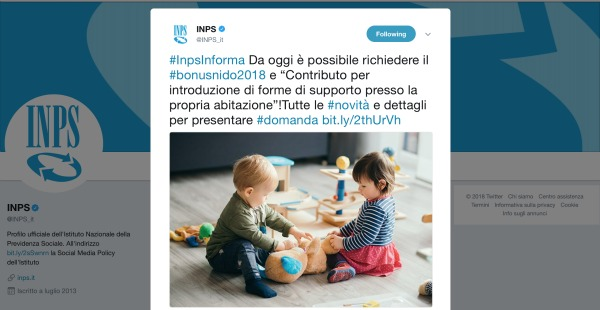 Bonus nido2018 for Bonus asilo nido 2019 requisiti