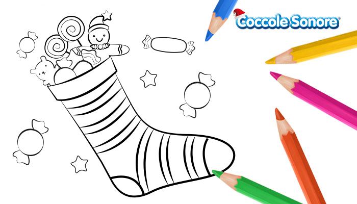 calze della befana colorare coccole sonore