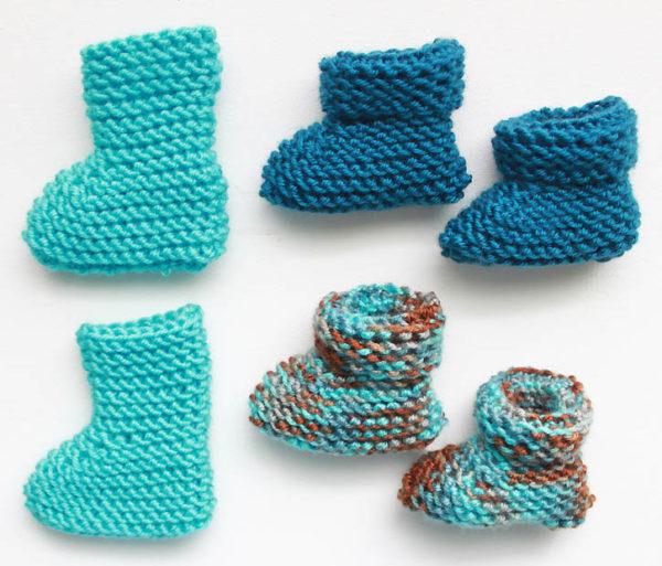 calzine a maglia neonati