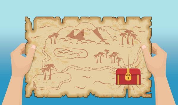 indizi per la caccia al tesoro dei bambini mappa del tesoro