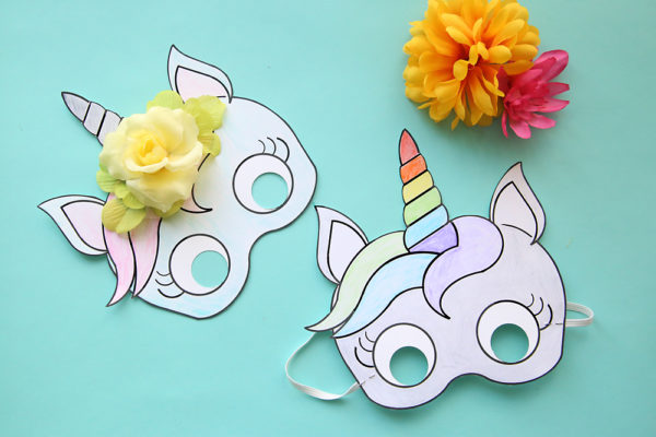 Maschere Carnevale Colorare Unicorno Blogmamma It