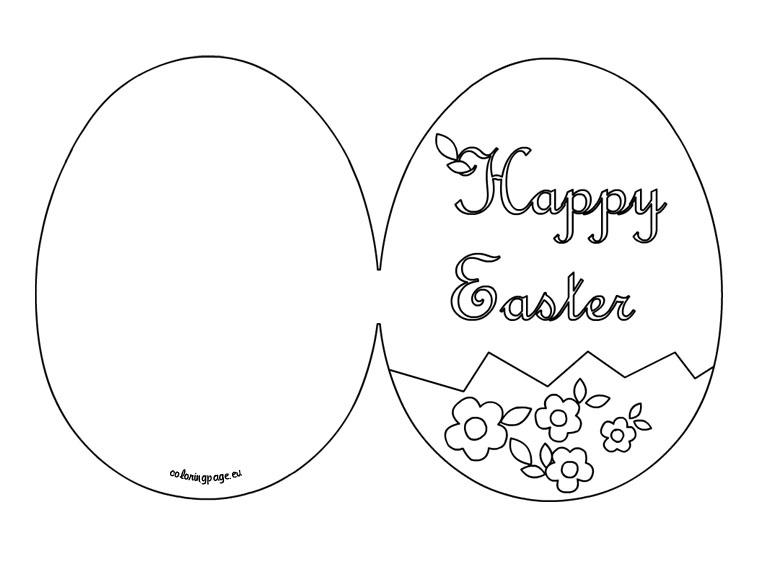 biglietti di Pasqua da stampare e colorare