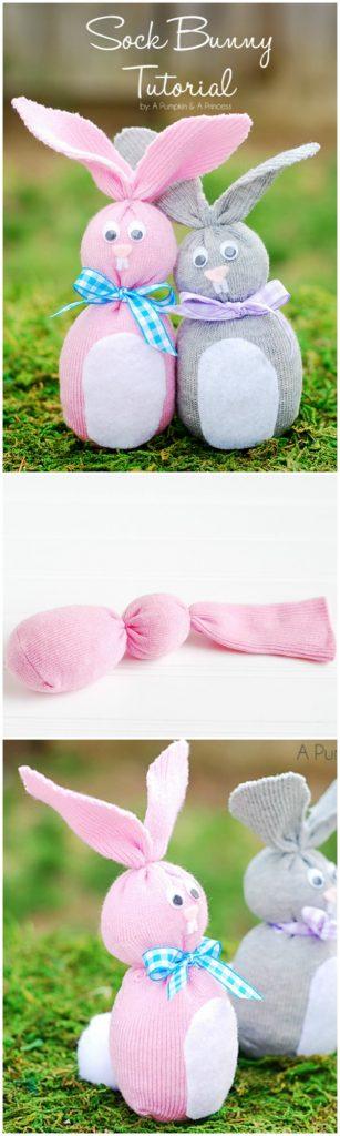 coniglietti di Pasqua calzini