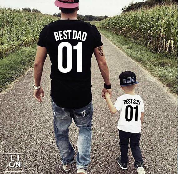 magliette festa del papà padre e figlio