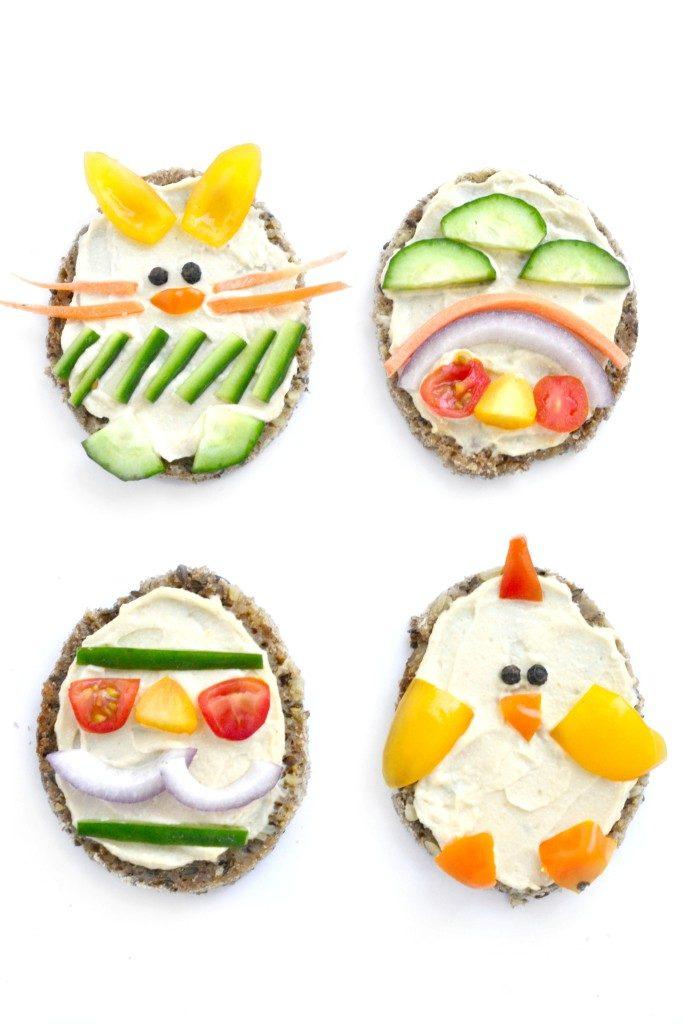 tartine per il menu di Pasqua per bambini