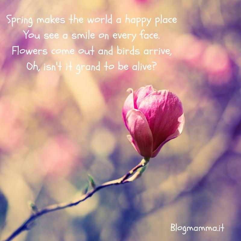 poesie e filastrocche in primavera in inglese