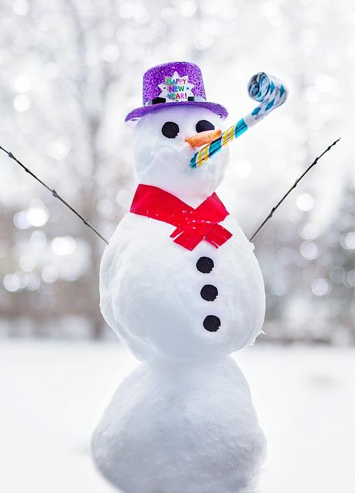 pupazzo di neve fine anno