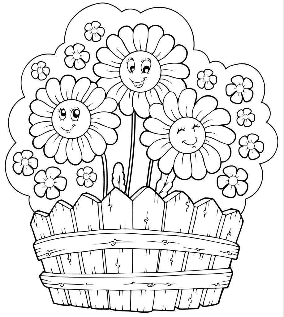 fiori da colorare