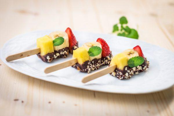 dolci senza lattosio spiedini frutta