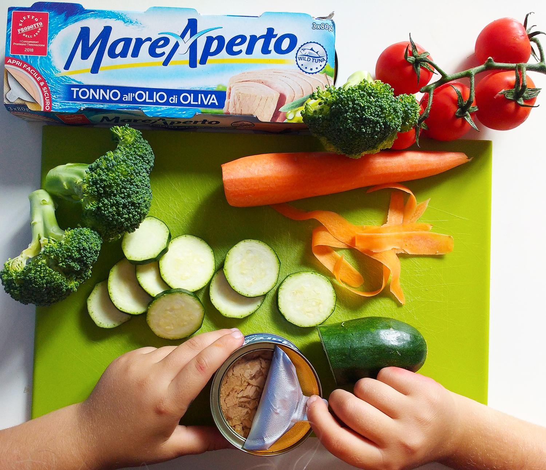 Riso integrale in barattolo con verdure e tonno Mare Aperto lattina easy-peel