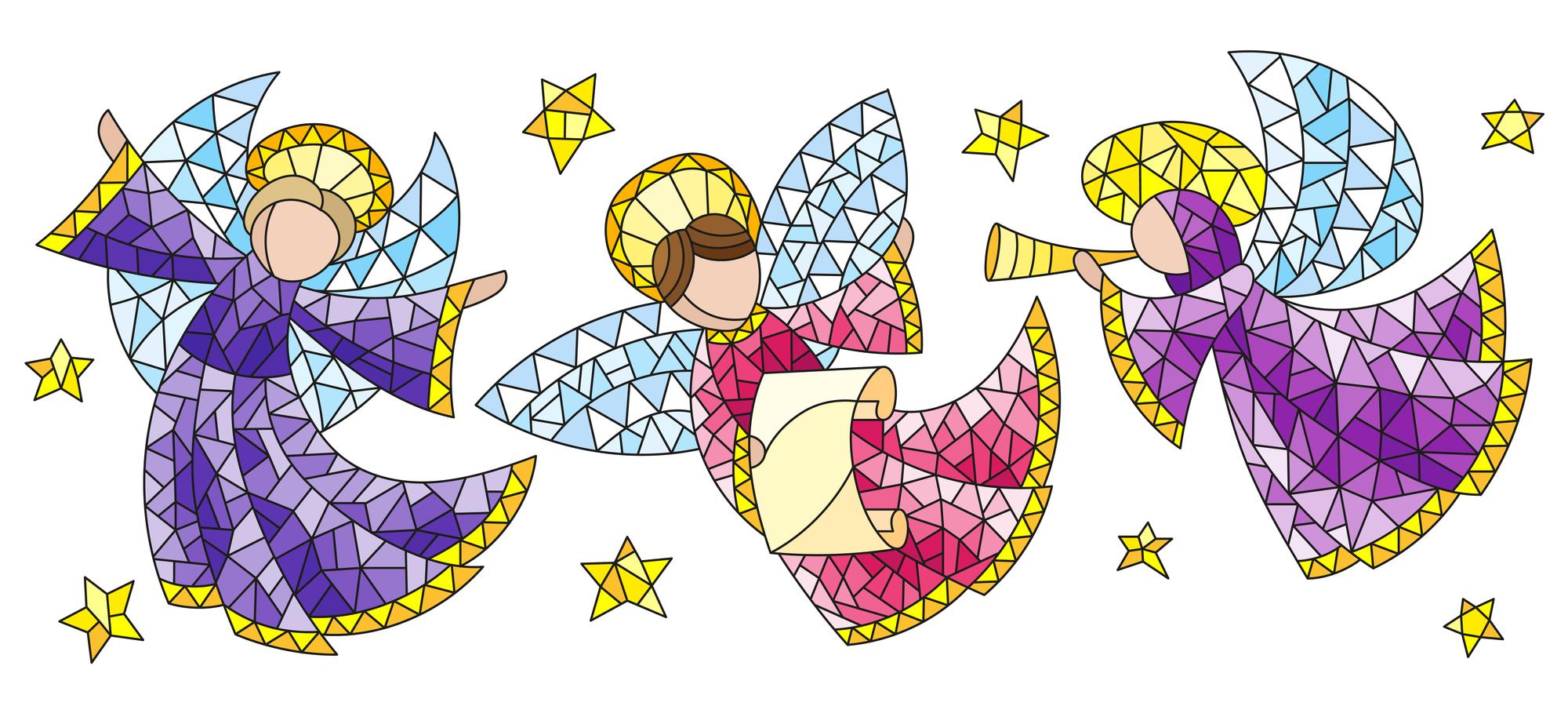 Angeli da colorare ritagliare e usare per lavoretti for Angeli da stampare e colorare