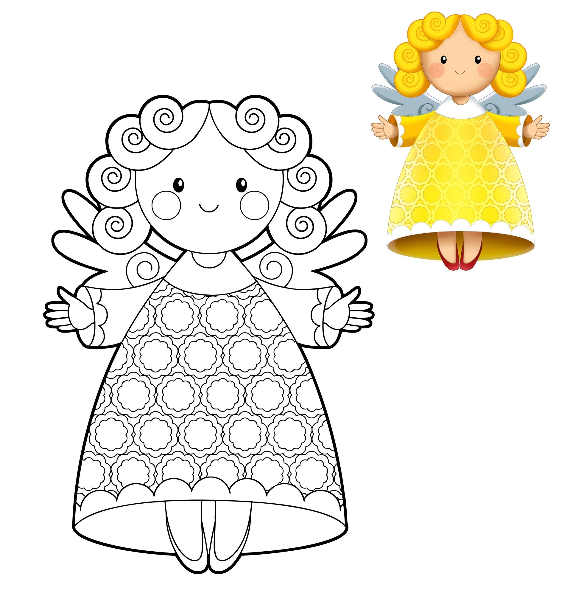 Angeli da colorare ritagliare e usare per lavoretti for Immagini angeli da colorare