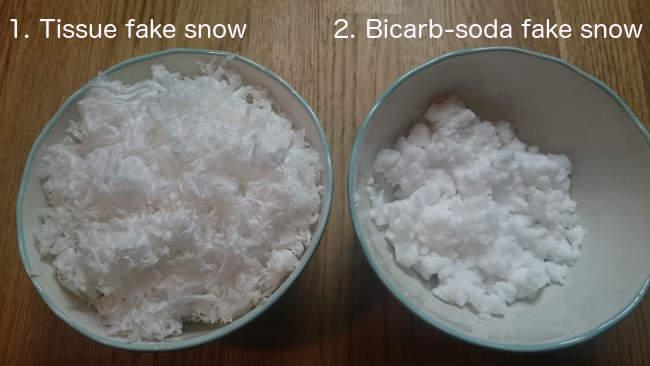 neve finta presepe lavoretti fazzoletti bicarbonato