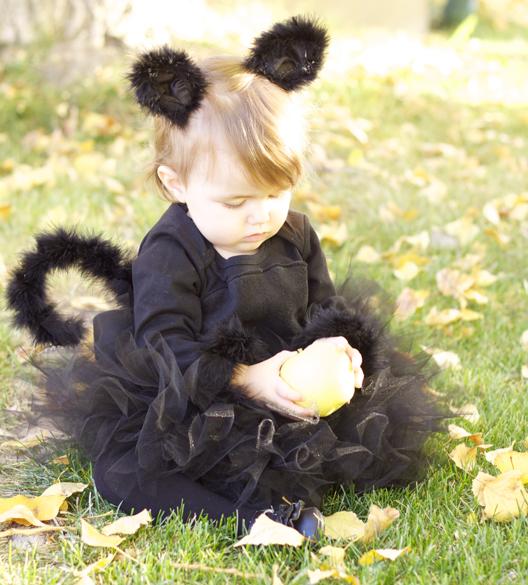 Costume da gattina fai da te _ neonata mascherata