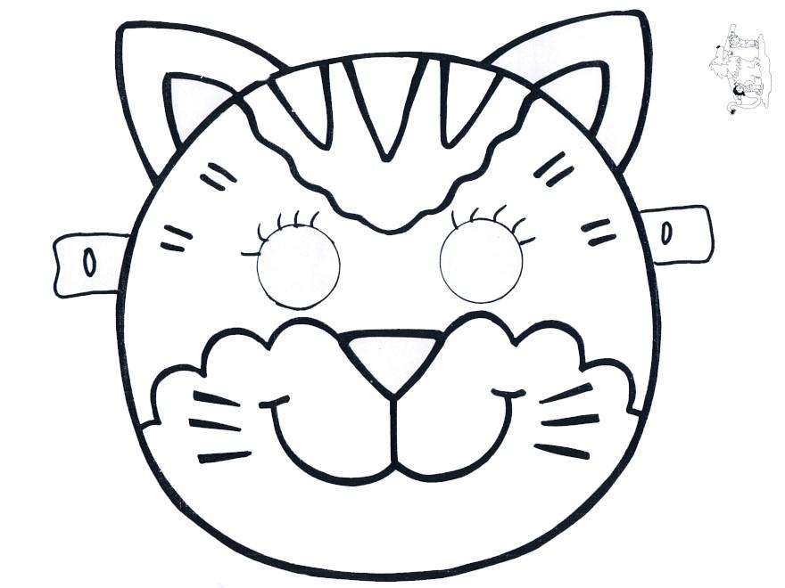 maschere di carnevale da colorare gatto