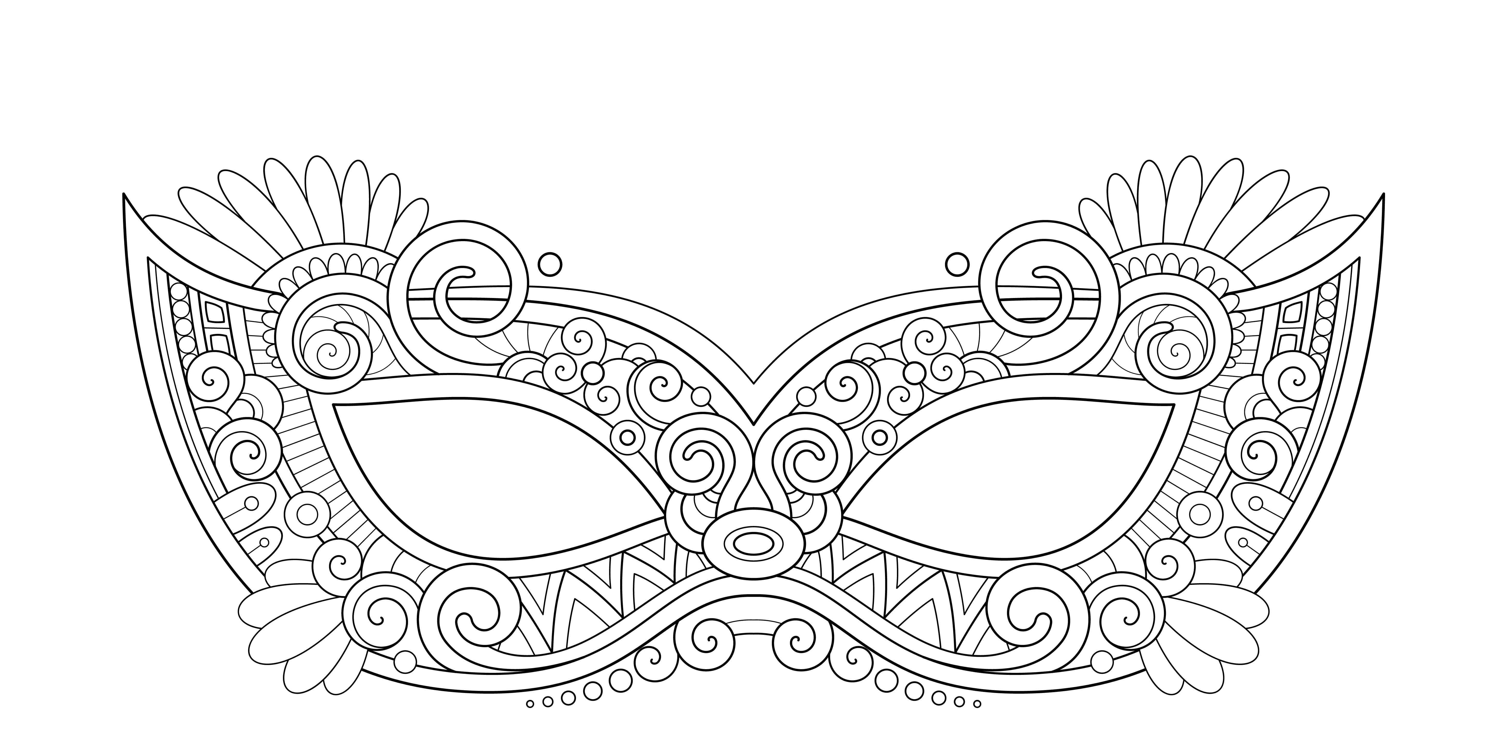 vivido e di grande stile bellezza marchio famoso Maschere di Carnevale da colorare e ritagliare
