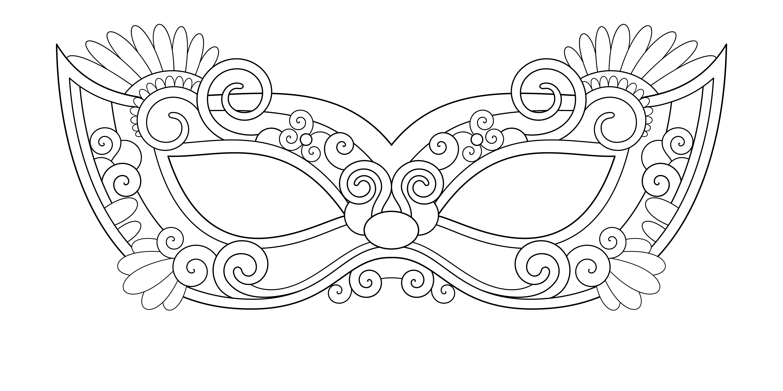 Costumi di carnevale da colorare portalebambini for Immagini maschere carnevale da colorare