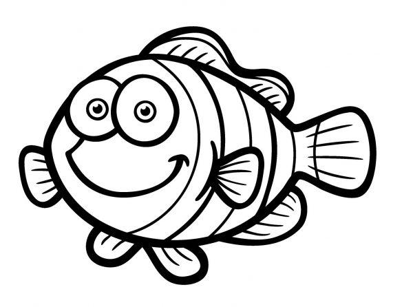 pesce d'aprile da colorare