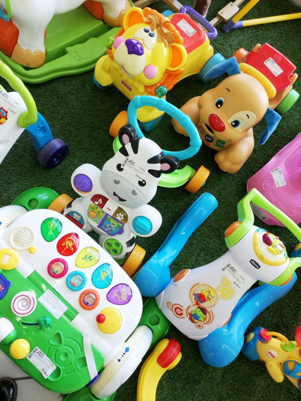 Giochi presenti in un negozio di Baby Bazar