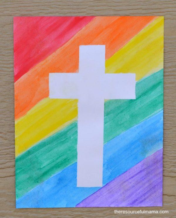 biglietti di Pasqua con la croce