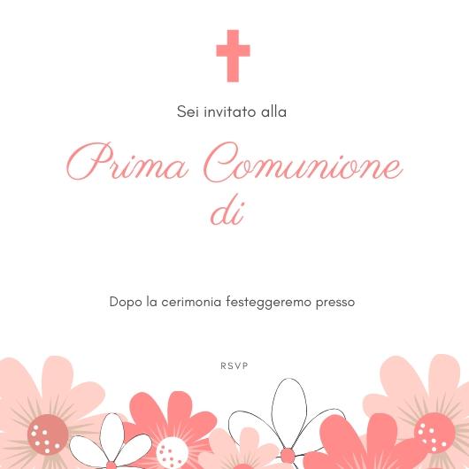 invito per la prima comunione realizzato con Canva