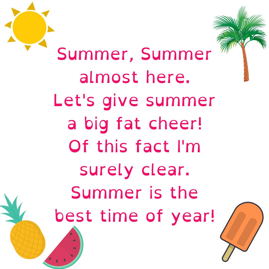 filastrocche estate bambini