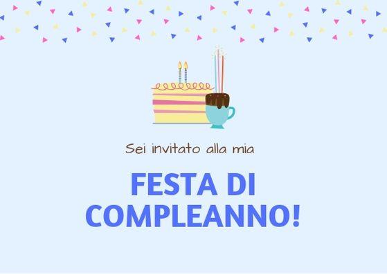 biglietto per festa di compleanno creato con Canva