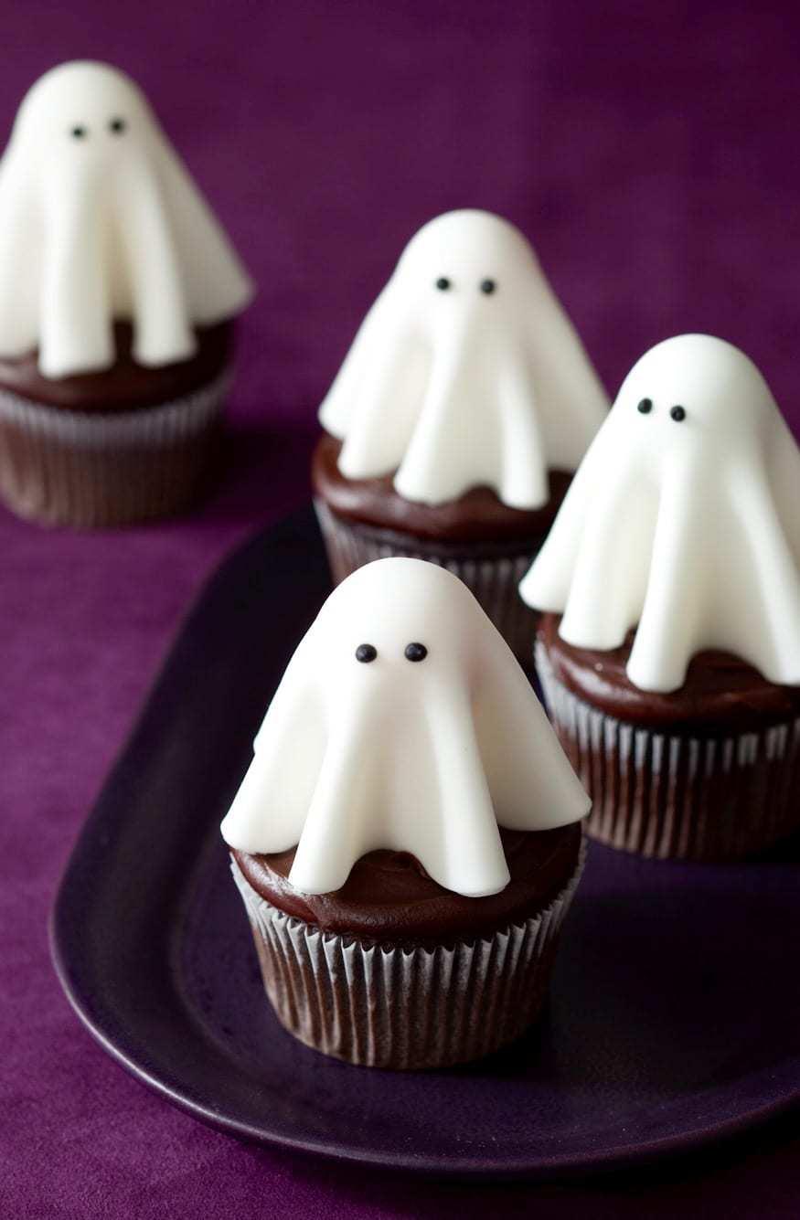 Cupcake di Halloween da fare con i bambini _ fantasmini