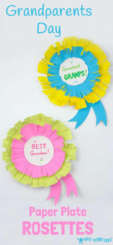 lavoretti per la festa dei nonni: coccarde