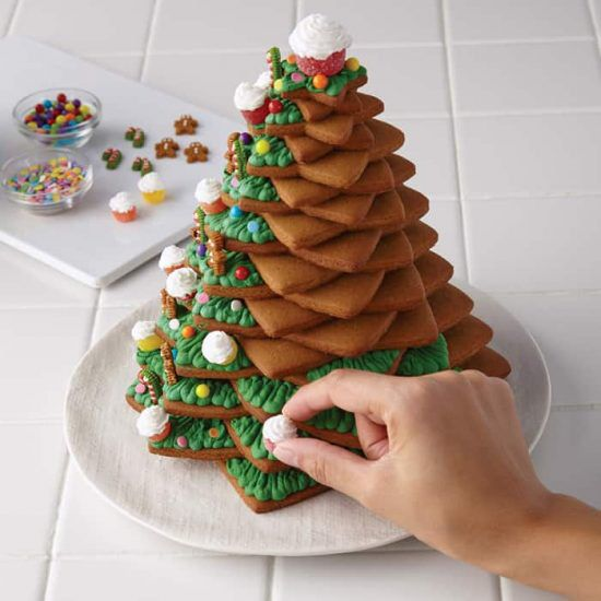 Albero di Natale di biscotti decorato con ghiaccia reale _tutorial