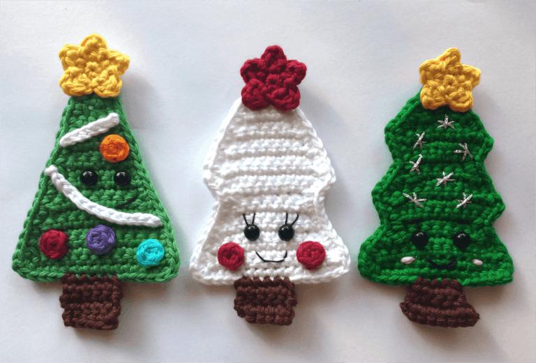alberi di Natale a uncinetto