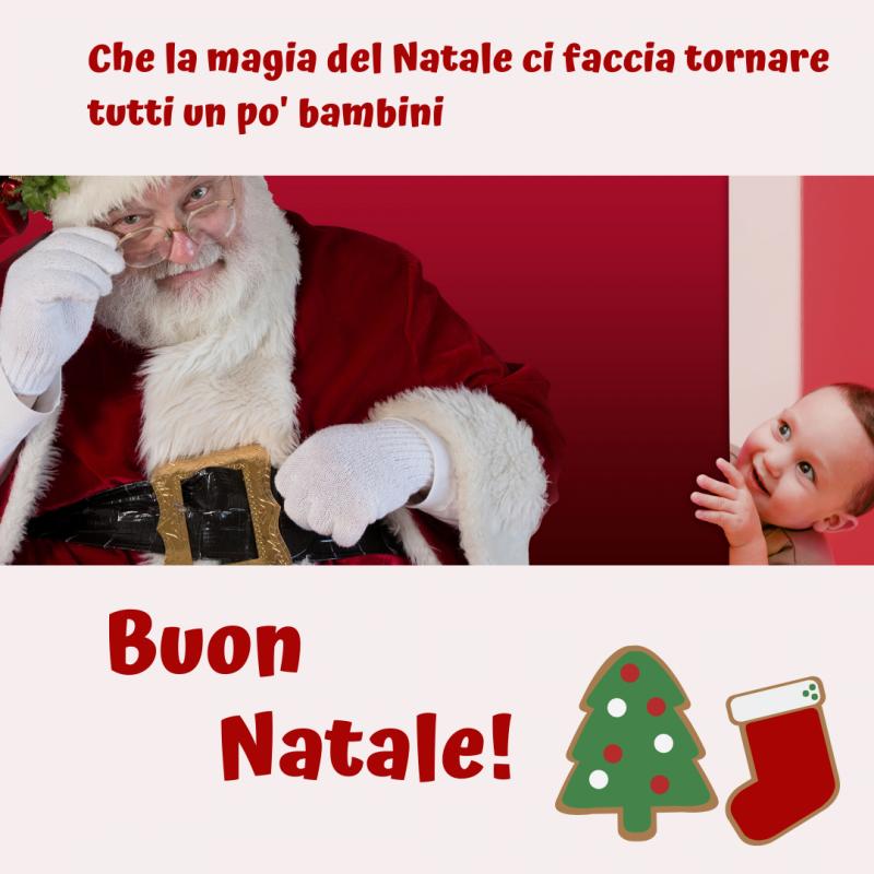 immagine natalizia con babbo Natale