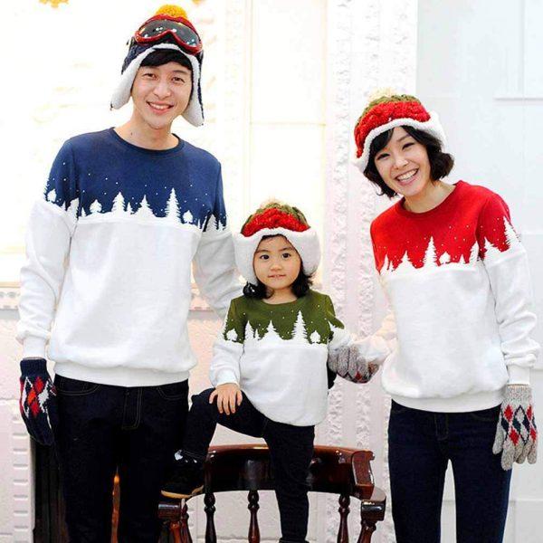 maglioni natalizi coordinati per la famiglia