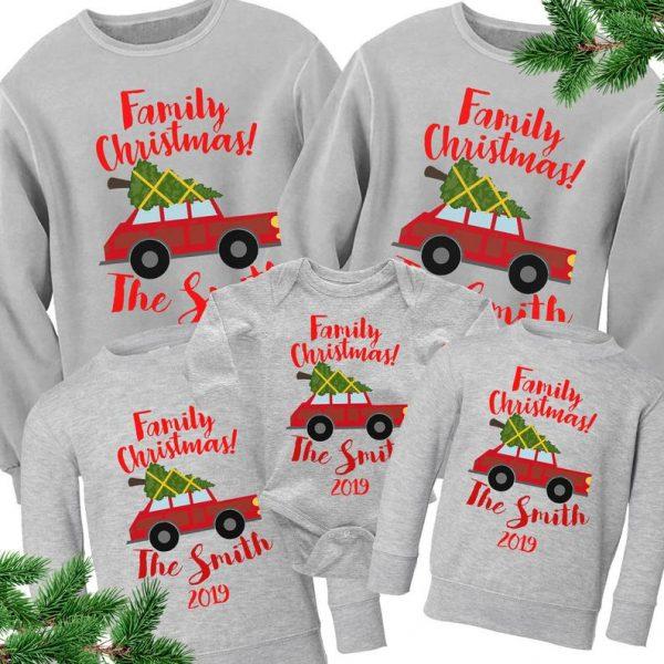 felpa di Natale per tutta la famiglia