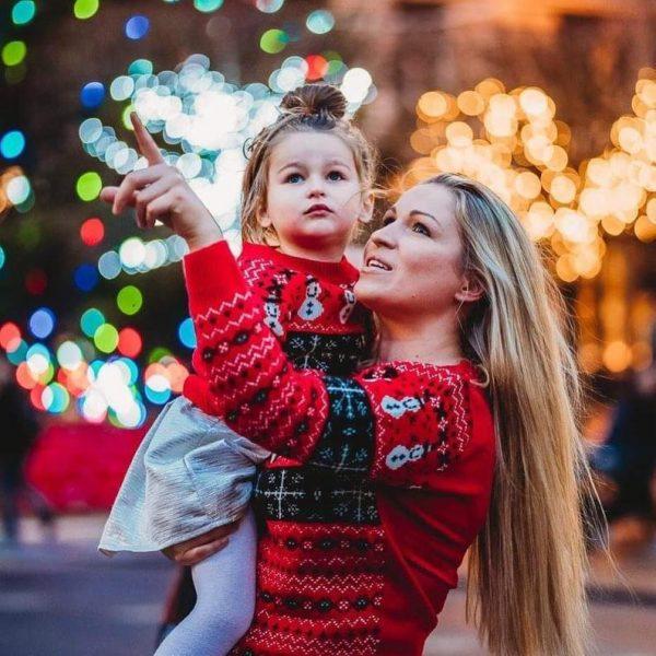 maglioni natalizi mamma e figlia