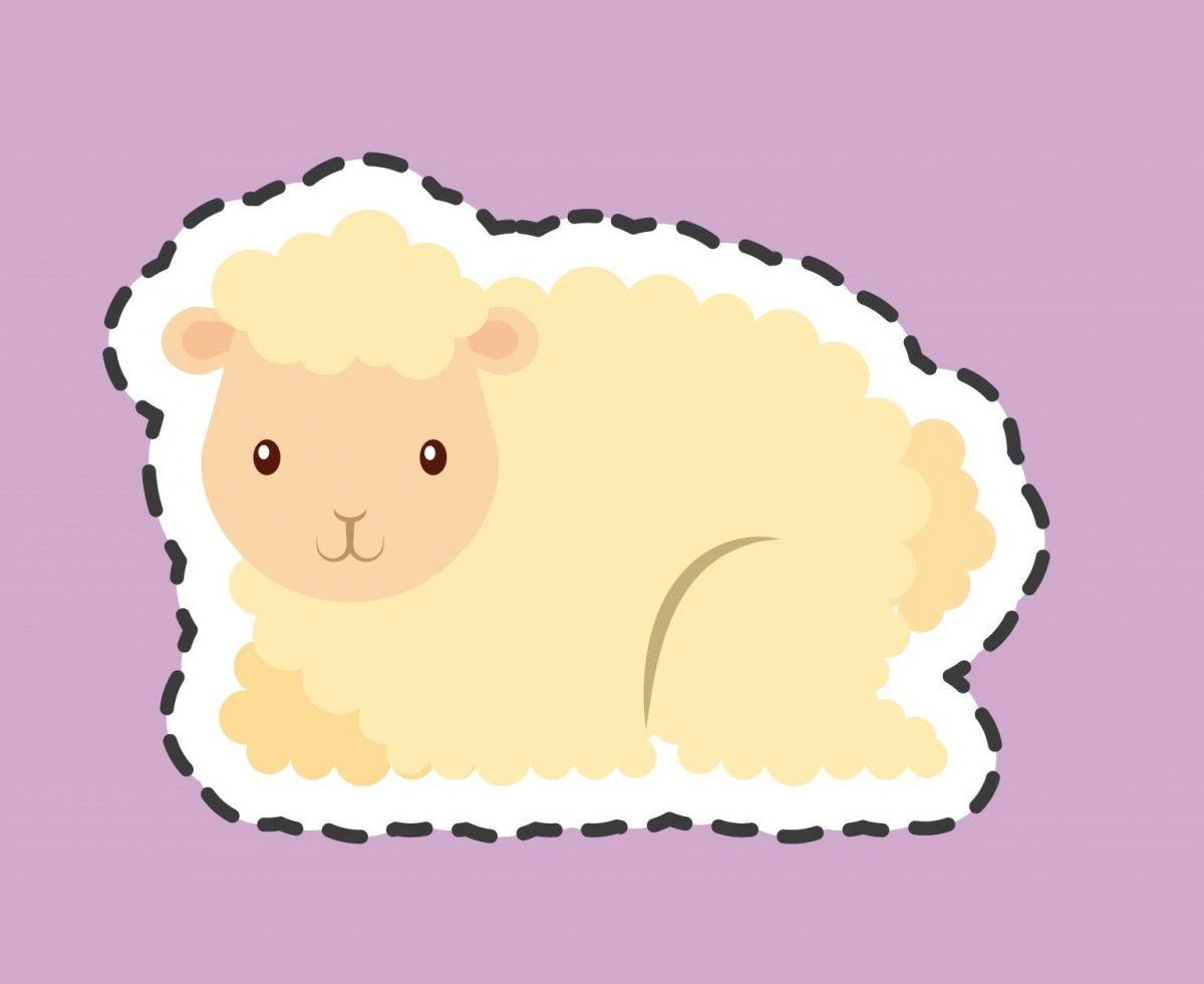 pecorella del presepe fai da te da ritagliare e incollare
