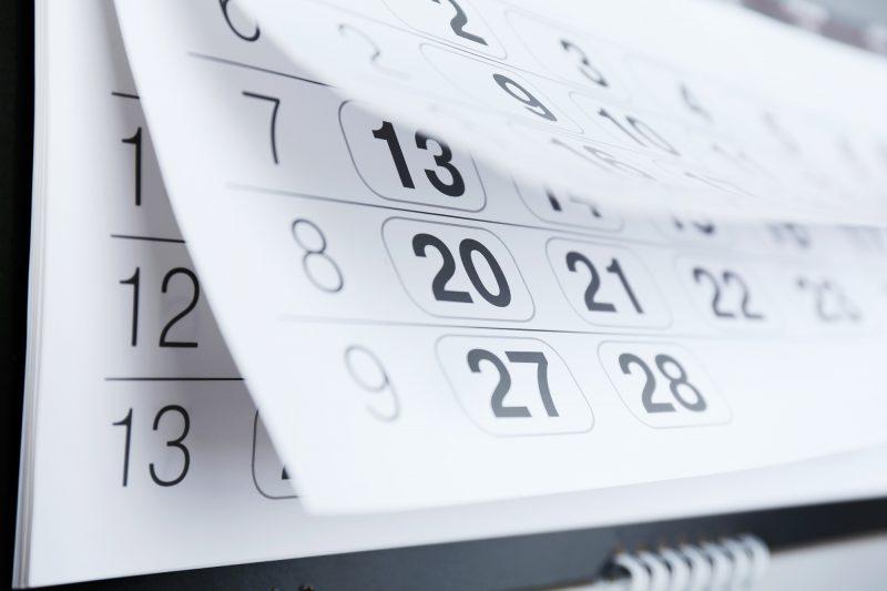 calendario con date del carnevale 2020