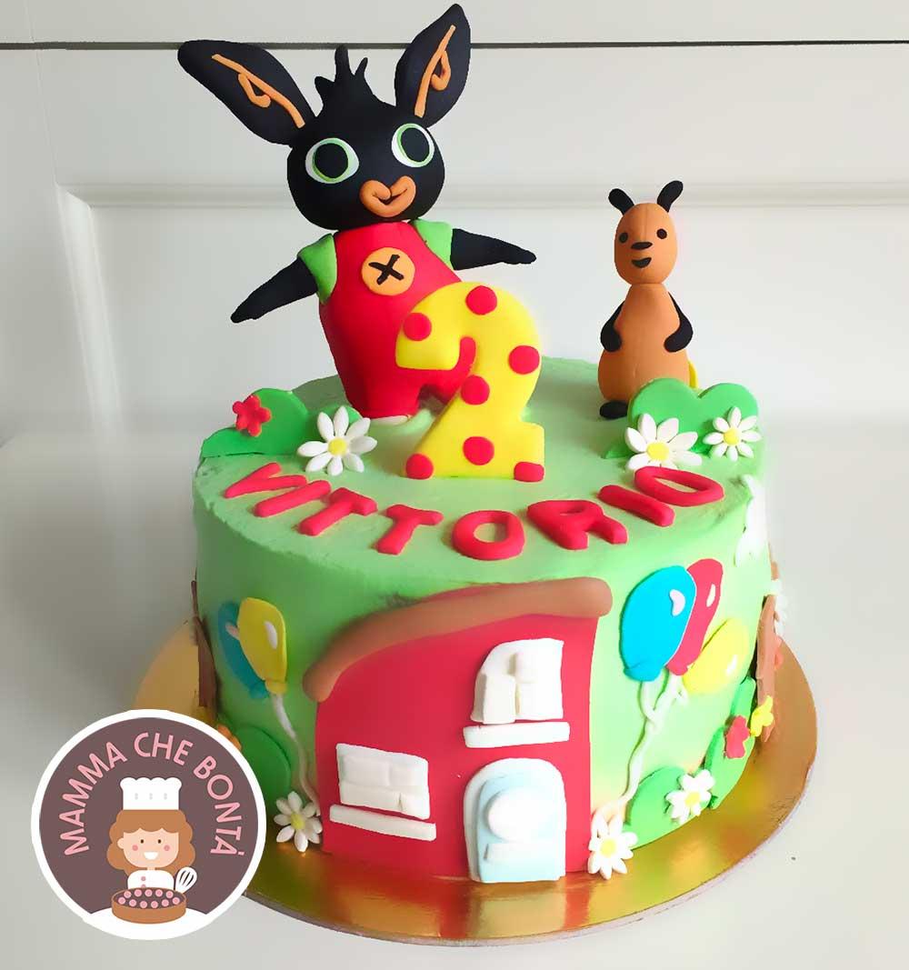 Torta di compleanno Bing mamma che bontà _no pasta di zucchero
