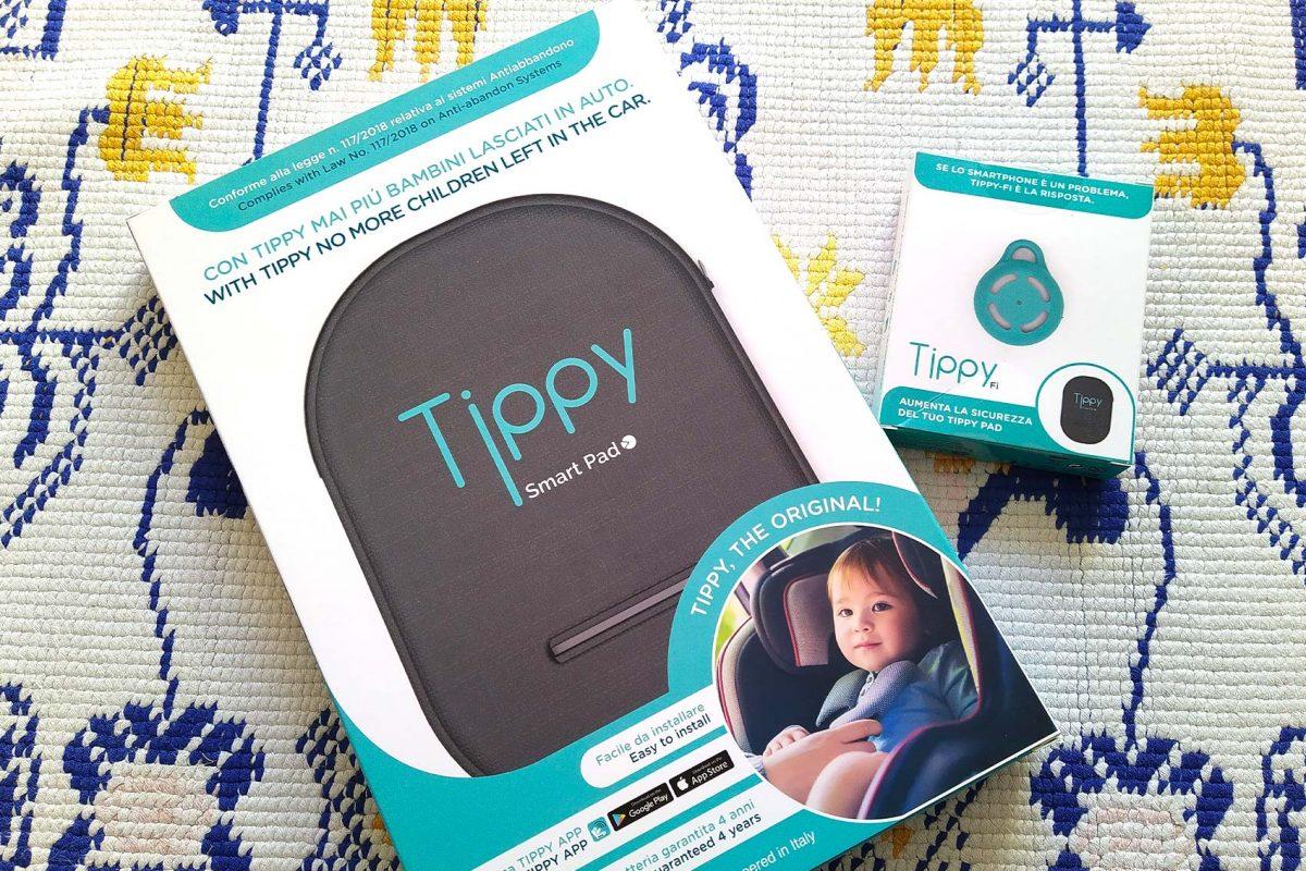 confezione tippy dispositivo anti abbandono e Tippy fi