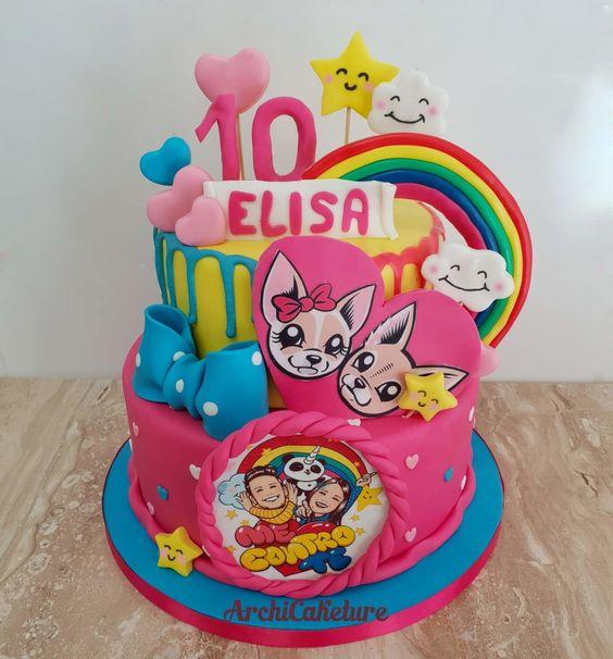 torte di compleanno Me contro Te in pasta di zucchero