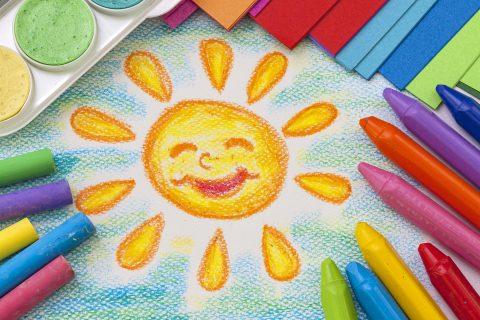 disegni con i pastelli a cera
