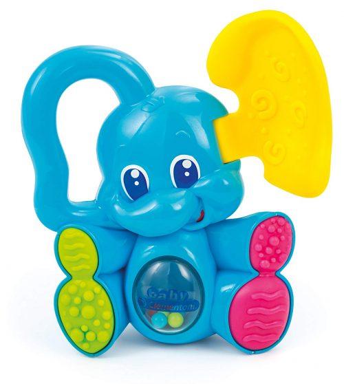 giochi per neonati di 3 mesi Sonaglino Elefantino Cucù Clementoni